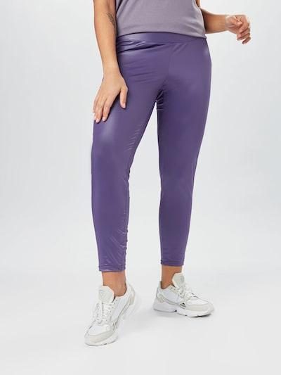 Urban Classics Curvy Leggings en violet foncé / violet chiné, Vue avec modèle