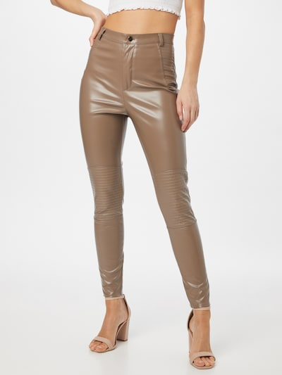 Missguided Trousers in Beige, View model