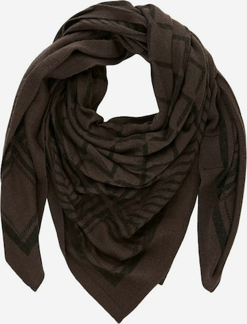 PIECES Scarf in Brown