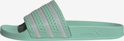 ADIDAS ORIGINALS Pantolette  'Adilette' in mint / silber, Produktansicht
