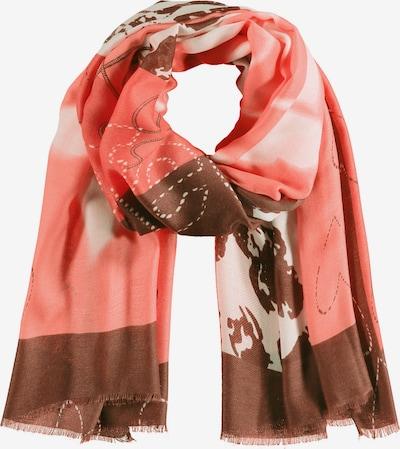 SAMOON Schal in beige / braun / koralle, Produktansicht