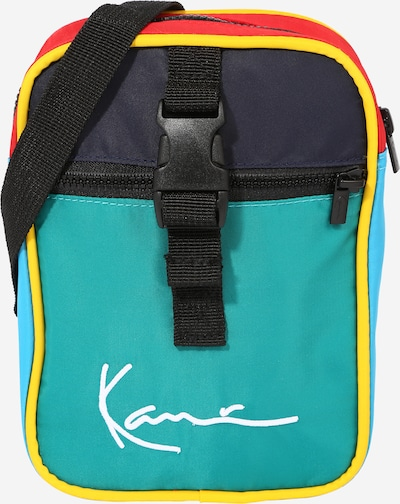 Karl Kani Sac à bandoulière en bleu marine / bleu clair / jaune / jade / rouge clair, Vue avec produit