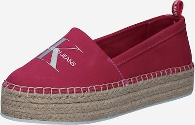 Calvin Klein Jeans Espadrilles in silbergrau / himbeer, Produktansicht