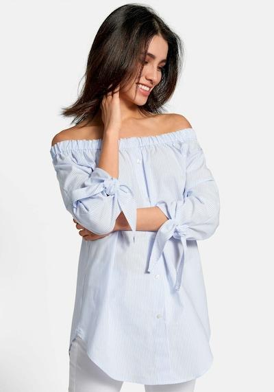 Emilia Lay Streifen-Bluse 3/4-Arm in blau, Modelansicht