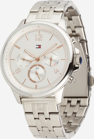 TOMMY HILFIGER Analog watch in Silver / White, Item view