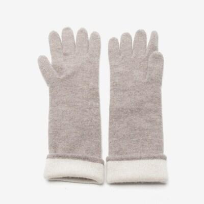 REPEAT Kaschmirhandschuhe in M in beige / graumeliert, Produktansicht