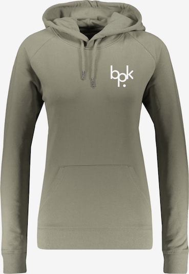 Bolzplatzkind Sweatshirt in oliv / weiß, Produktansicht