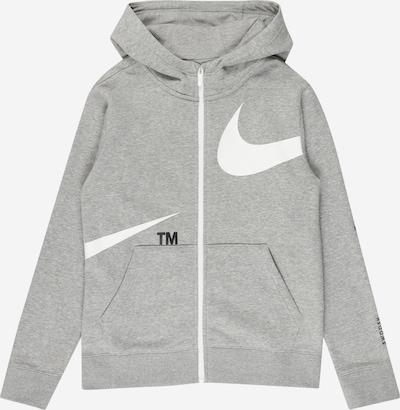 Nike Sportswear Sweatjacka i gråmelerad / vit, Produktvy