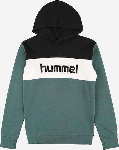 Hummel Hoodie 'MORTEN' in pastellgrün / schwarz / weiß, Produktansicht