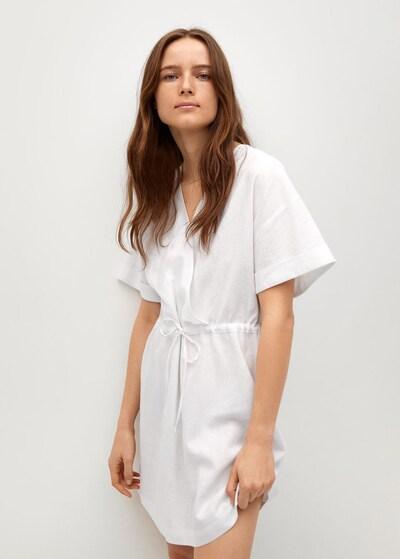 MANGO Kleid 'Savana' in weiß, Modelansicht