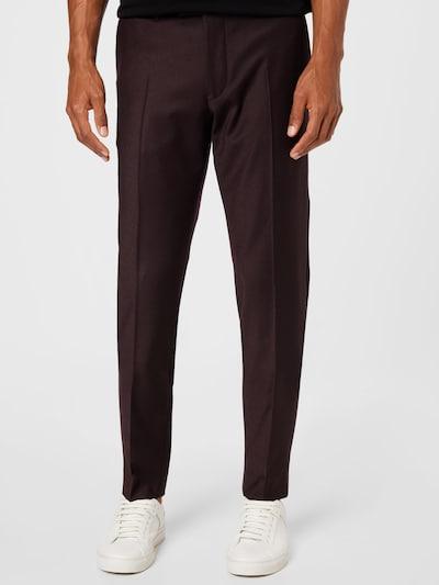 DRYKORN Παντελόνι με τσάκιση 'PIET' σε σκούρο κόκκινο, Άποψη μοντέλου