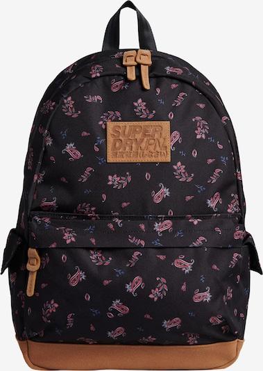 Superdry Rucksack 'Montana' in blau / braun / pink / schwarz, Produktansicht