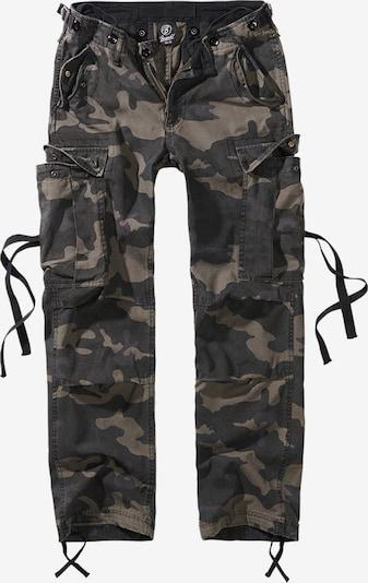 Brandit Pantalon cargo en beige / kaki / vert foncé, Vue avec produit