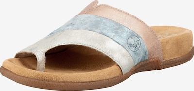Flip-flops RIEKER pe albastru deschis / auriu - roz / argintiu, Vizualizare produs