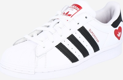 ADIDAS ORIGINALS Sneaker low 'Superstar' i rød / sort / hvid, Produktvisning