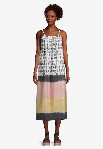 Cartoon Sommerkleid ohne Arm in grau / rosa, Modelansicht