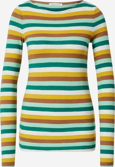 Marc O'Polo T-shirt en marron / moutarde / émeraude / menthe / blanc, Vue avec produit
