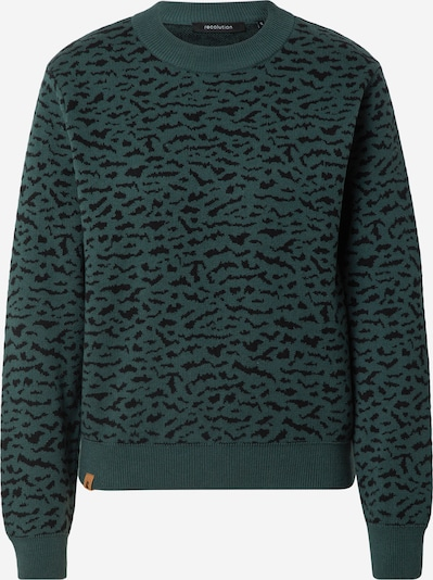 Pulover 'PEPPER' recolution pe verde smarald / negru, Vizualizare produs