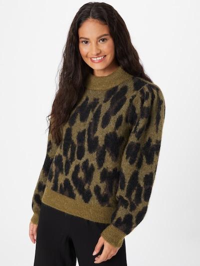 Copenhagen Muse Pullover in khaki / grasgrün, Modelansicht