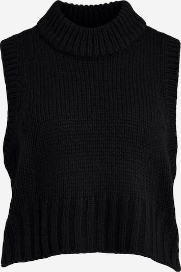 VILA Strickweste in schwarz, Produktansicht