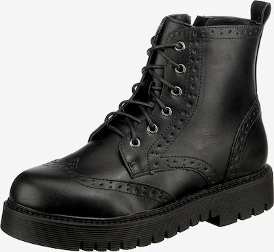ambellis Schnürstiefeletten in schwarz, Produktansicht