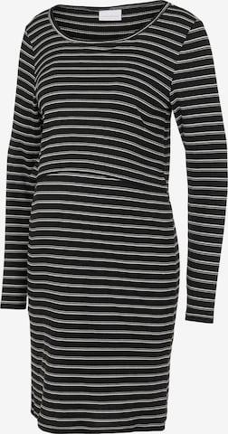 MAMALICIOUS Stickad klänning 'Carma June' i svart