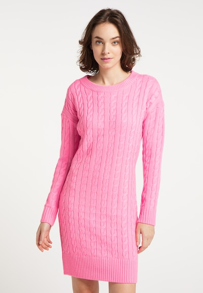 MYMO Knitted dress in Pink, View model