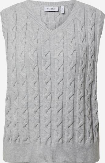 WEEKDAY Плетен елек 'Chase' в сиво, Преглед на продукта