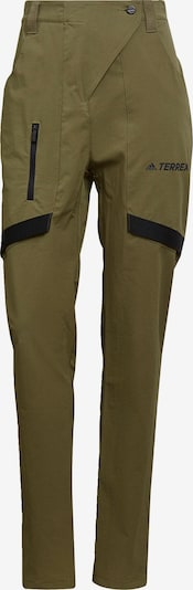 adidas Terrex Outdoor Pants in Khaki / Black, Item view