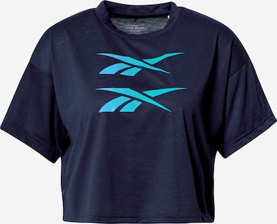 REEBOK T-shirt fonctionnel en bleu foncé, Vue avec produit