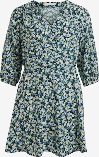 VILA Kleid 'Rosina' in navy / hellblau / pastellgelb / grün / naturweiß, Produktansicht