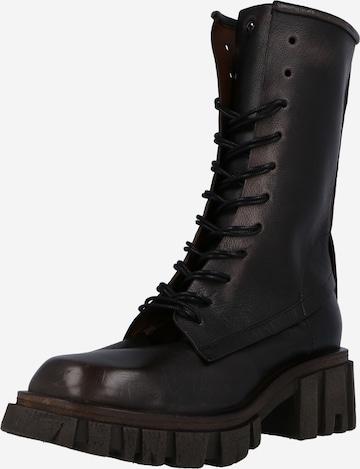 juoda A.S.98 Suvarstomieji kulkšnis dengiantys batai 'Hell'