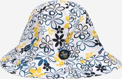 Pălărie Boboli pe albastru porumbel / galben citron / negru / alb, Vizualizare produs