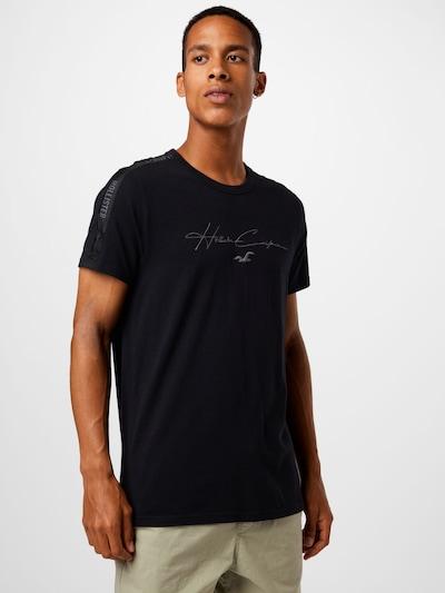 fekete HOLLISTER Póló: Elölnézet