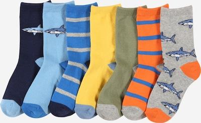 Kojinės 'SHARK' iš GAP, spalva – tamsiai mėlyna / šviesiai mėlyna / alyvuogių spalva / šviesiai oranžinė / balta, Prekių apžvalga
