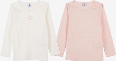 PETIT BATEAU Unterhemd in pastellpink / weiß, Produktansicht