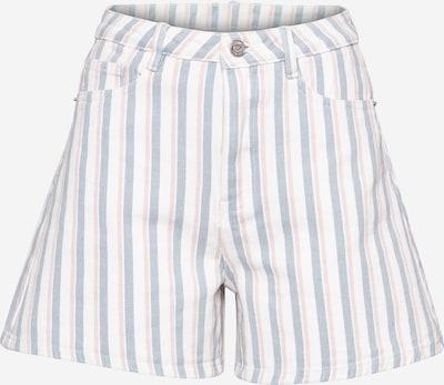 Missguided Pantalon en bleu-gris / rouge pastel / blanc, Vue avec produit