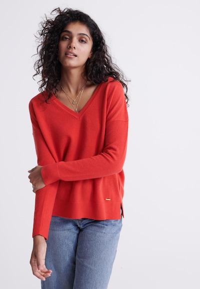 Superdry Pullover 'Edit Premium' in rot, Modelansicht