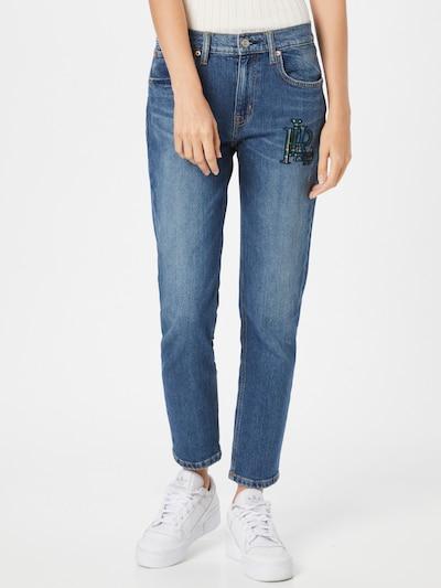 Lauren Ralph Lauren Jeans in navy / blue denim / gelb / grün, Modelansicht