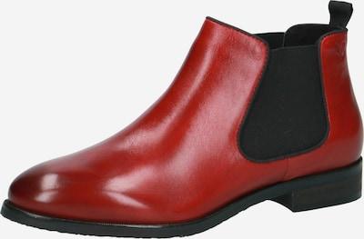 CAPRICE Chelsea Boots in rot / schwarz, Produktansicht