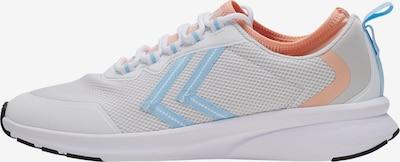 Hummel Baskets basses en bleu clair / orange / blanc, Vue avec produit