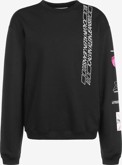 Calvin Klein Jeans Sweater ' Sleeve Print Crew Neck ' in schwarz, Produktansicht