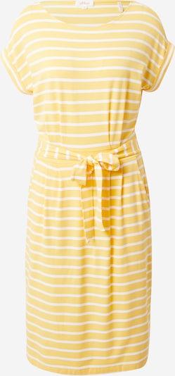 s.Oliver Kleid in gelb / weiß, Produktansicht