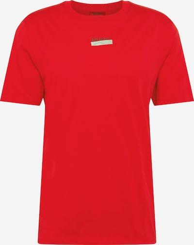 HUGO T-Shirt 'Durned' en gris argenté / vert / rouge, Vue avec produit