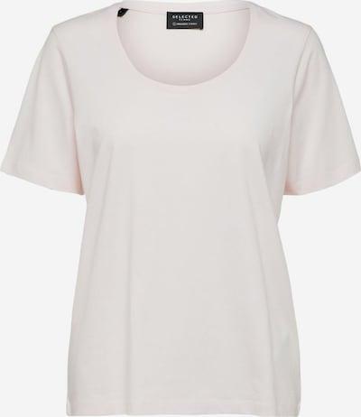 Tricou SELECTED FEMME pe alb, Vizualizare produs