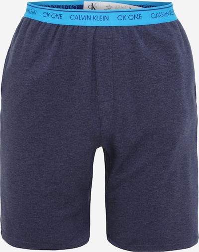Calvin Klein Underwear Pantalon de pyjama en marine / bleu néon, Vue avec produit