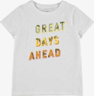 NAME IT T-Shirt 'Jasmin' en jaune / menthe / orange / blanc, Vue avec produit