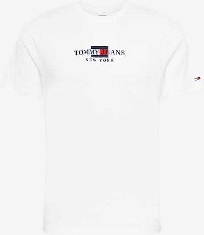 Tommy Jeans Majica u mornarsko plava / vatreno crvena / bijela, Pregled proizvoda