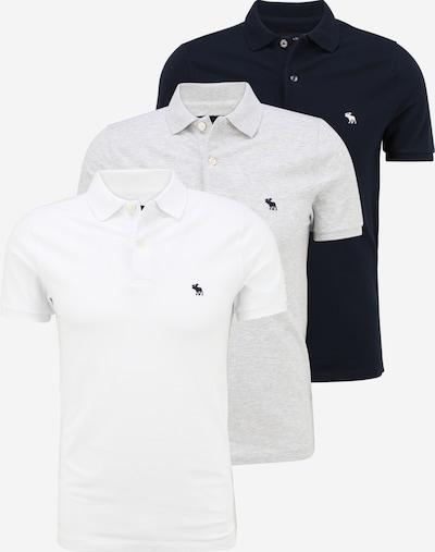 Abercrombie & Fitch T-Shirt en gris chiné / noir / blanc, Vue avec produit