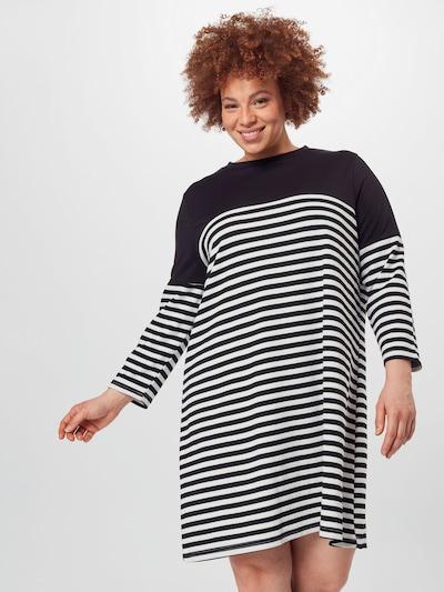 ONLY Carmakoma Šaty 'Viol' - černá / bílá, Model/ka